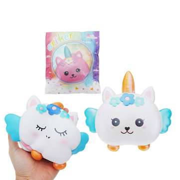 Oriker Unicorn Burger Squishy 16CM Slow Rising With Packaging Collection Gift Soft Toy
