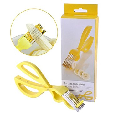 Banana Slicer Cutter Chopper Fruit Scissors Kitchen Accessories Banana Cutter Slicer