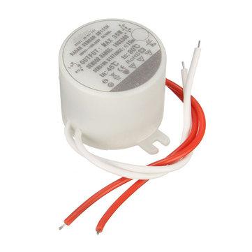 AC220V 35W 円形 遅延時間レーダーマイクロ波誘導センサースイッチ(LEDライト用)
