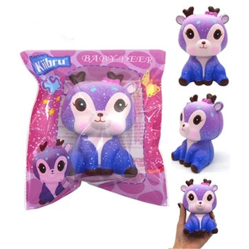 Kiibru Squishy Deer 11CM Licensed Slow Rising Soft Animal Collection Gift Decor Toy Original Packaging