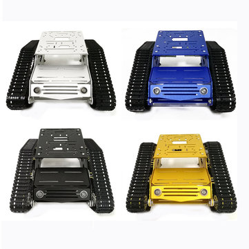 DIY YP100 Robot Tank Chassis Kit With 9V 25mm Gear Motor Aluminum Alloy Frame Plastic Tracks