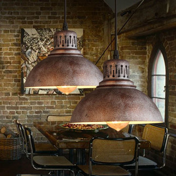 Retro Loft Iron Industrial Vintage Shabby Ceiling Light Bar Dining Room Pendant Lamp Indoor Lighting