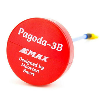 EMAX Pagoda 3B 5.8G 90mm Long RHCP W/ MMCX by Maarten Baert FPV VTX Antenna Red