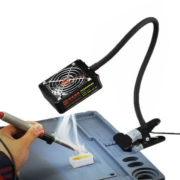 Soldering Iron Exhaust Fan Solder Smoke Exhauster Remover Fume Extractor with LED Lighting