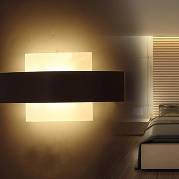 Modern LED Square Wall Lamp for Bedroom Bathroom Living Sitting Room