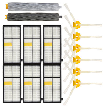 14pcs Vacuum Cleaner Accessories Kit Filters and Brushes for iRobot Roomba 800 900 Series