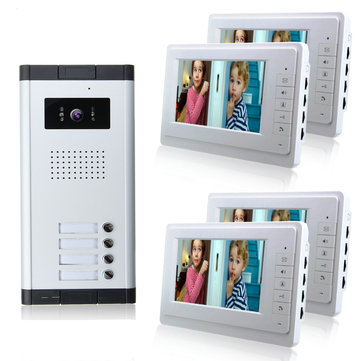 7inch Wired Video Door Phone System Intercom Doorbell Camera