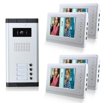 7inch Wired Video Door Phone System Intercom Doorbell Camera