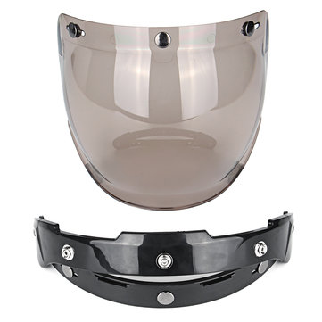 Open Face Motorcycle Helmet Bubble Visor Lens For Harley Jet Helmet