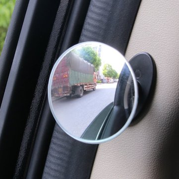 5CM Car B Pillar Door Side Blind Spot Rearview Mirror HD Convex Glass 360° Wide Angle Mirror