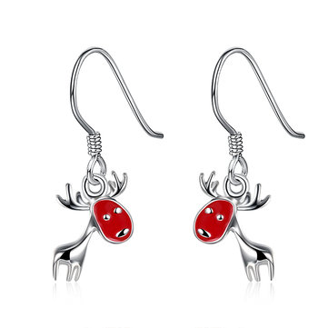 Christmas Tree Leaves Deer Delicate Gift Ear Drop Earrings