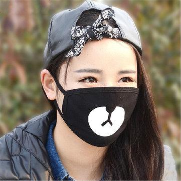 หน้ากากจมูกปากจมูกสวมหน้ากากป้องกันปากถุงลมนิรภัยป้องกันฝุ่นฤดูหนาวผ้าเย็นสบาย