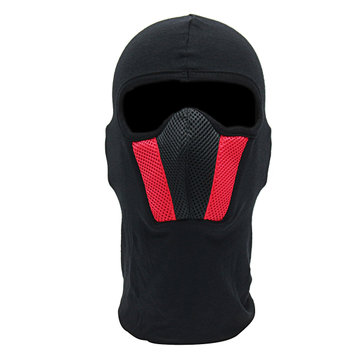 Motorcycle Face Mask For Men Outdoor Helmet Ski Sport Neck Hood Black Red Gray