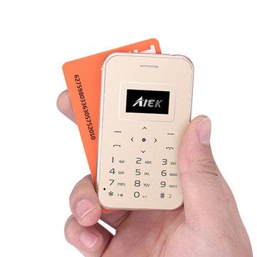 AIEK X8 0.96 Inch 320mAh 4.8mm Led Torch Ultra Thin Pocket Mini Card Mobile Phone