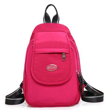 عارضةNylonخفيفةالوزنالصدرالرافعة حقيبة الظهر حقائب الكتف اليومية للنساء