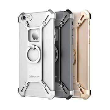NILLKIN Barde Metal Ring Bracket Holder Case Shockproof Back Cover Bumper for iPhone 6Plus & 6s Plus