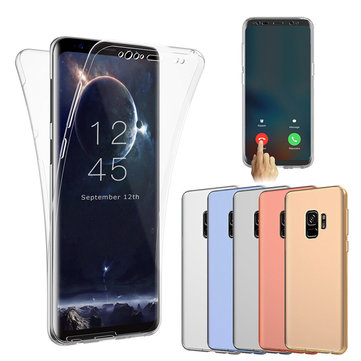 Full Body Front & Back Cover Clear Touch Screen Case For Samsung Galaxy S9 Plus