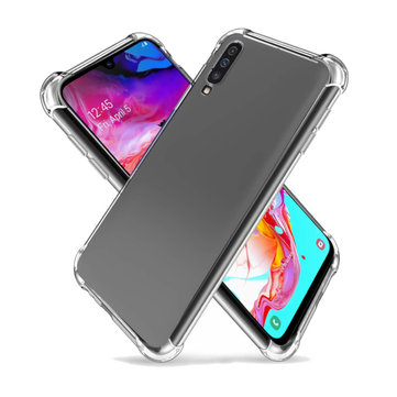 Bakeey Air Cushion Corner Transparent Shockproof TPU Protective Case for Samsung Galaxy A70 2019