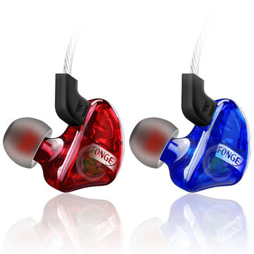 FONGE T01 In-ear Transparents Dynamic Driver Wired Control Heavy Bass Earphone With Mic