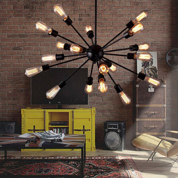 18 Heads Industrial Vintage Home Restaurant Ceiling Chandelier Light Pendant Lampshade Fixture