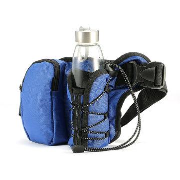 KCASA KC-BC07 Bisiklete binme Bel Su Şişesi Taşıyıcı Kemer Çanta Seyahat Spor Telefonu Su ısıtıcısı