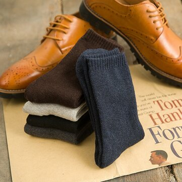 5 Colors Winter Thick Warm Terry Socks Male Casual Solid Color Cotton Socks