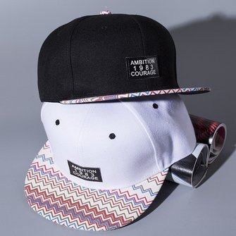 Unisex Men Women Colorful Wave Ambition Pattern Snapback Adjustable Baseball Cap Hip-hop hats