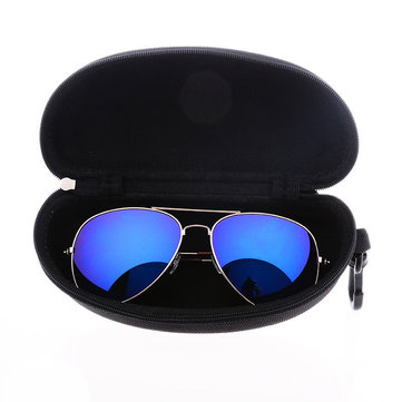 Zipper Eyeglassees Sun Glassess Hard Case Box Black