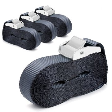 4 Pcs 16-foot-by-1-inch Sturdy Tie Down Straps Heavy Duty Lashing Strap Car Luggage Cargo Trailer