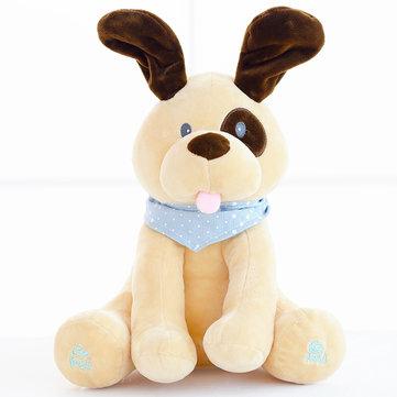 Animali ripieni e peluche Electric Dog Doll Gioca Musica Nascondere e cercare educazione Appease Baby Toy