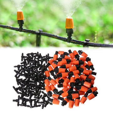 50Pcs Garden Plastic Adjustable Sprinkler Misting Drip Irrigation Misting Drip Head for Farm Lwan Watering