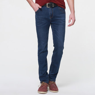 Business Casual Long Straight Leg Basic Joker Men Jeans
