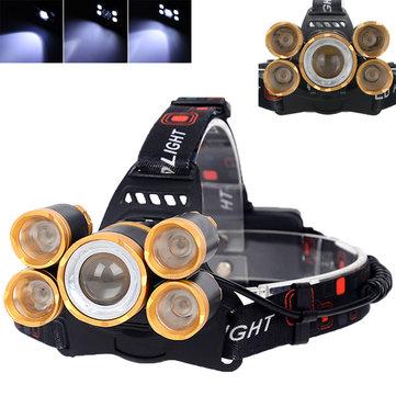 XANES 7310-B 2500 Lumens Bicycle Headlamp 4 Режимы переключения T6 + 4XPE Белый свет Механический Zoom