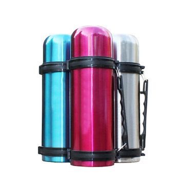 BIKIGHT 1100ML Stainless Steel Vacuum Thermos Portable Insulated Travel Water Bottle