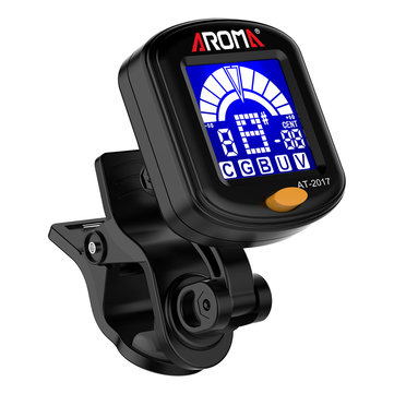 Aroma AT-2017 Clip-on Guitar Tuner Tuning for Guitar Bass Violin Ukulele