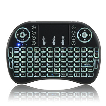 I8 2.4G Wireless White Backlit Italian Mini Keyboard Touchpad Airmouse