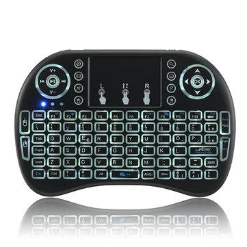 I8 2.4G Wireless White Backlit Italian Mini Keyboard Touchpad Airmouse
