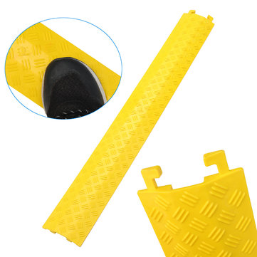 1M Safety PVC Floor Cable Cover Guard Wire Cord Surface Cover Protector