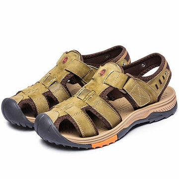 Men Breathable Anti-collision Toe Hook Loop Outdoor Sandals
