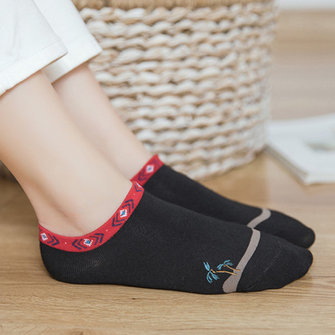 Ethnic Cotton Non Slip Breathable Socks Ankle Socks