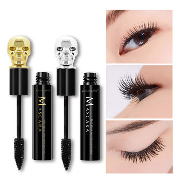 3D Effect Mascara Black Curving Lengthening Fiber Lashes Waterproof Eye Makeup