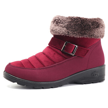 Snow Boots Cotton Keep Warm Slip On Flats For Women