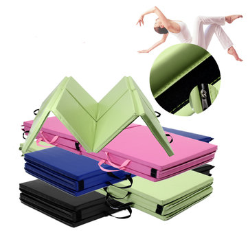 94.49x48.03x1.57inch 8 Folding Gymnastics Mat Yoga Exercise Gym Panel Tumbling Climbing Pad