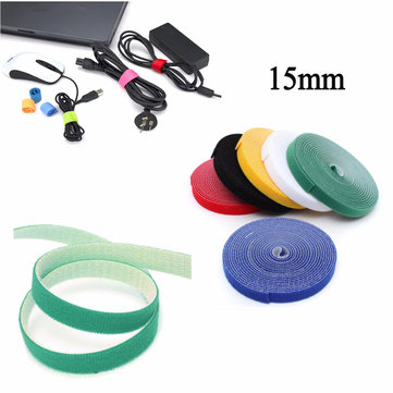15mm 4.5m Multifunctional Self Adhesive Magic Stick Loop Tape Fasten Stick Cable Tie