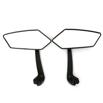 Motorcycle Bike Rear View Side Mirrors 8mm 10mm Angled For Honda Suzuki
