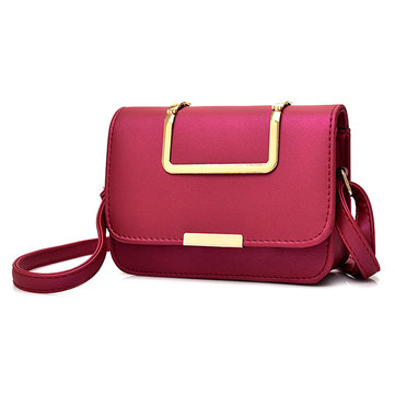 Women Metal Handle Shoulder Bags Girls Elegant Crossbody Bags Mini Bags