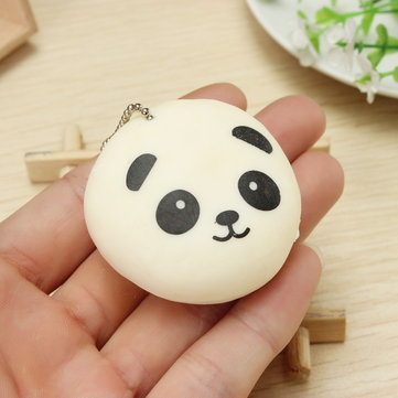 Squishy Squeeze Panda Sticky Rice Ball 5cm Collection Ball Chain Phone Strap Decor Gift Toy