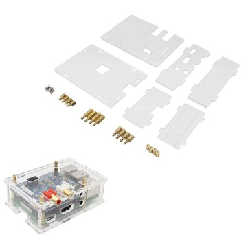 Transparent Acrylic Case For Raspberry Pi DAC II Hifi Sound Card