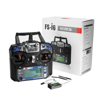 15% OFF for FlySky FS-i6 2.4G 6CH AFHDS RC Radion Transmitter With FS-iA6B Receiver for RC FPV Drone