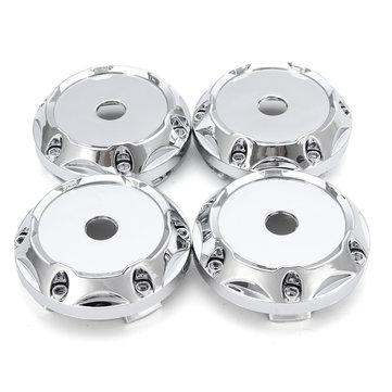 4PC 64mm ABS Silver Wheel Center Hub Caps Wheel Center Emblem